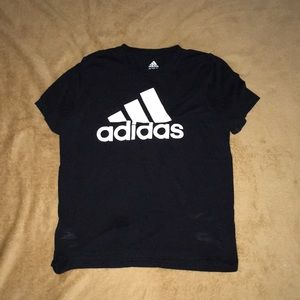 Black addidas shirt